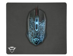 Trust GXT 783 Izza Gaming Mouse & Mouse Pad BLACK - купить в интернет-магазине Coolbaba Toys